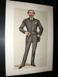 Vanity Fair Print 1881 William L.A Burdett-Coutts Bartlett